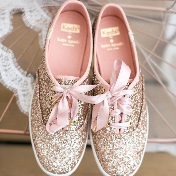 acb106d8897e kate spade Shoes - Rose Gold Glitter Kate Spade Keds